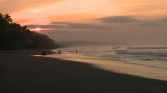 Recreation Corcovado National Park Winter Sunrise Ocean Fishing Surf Stock Footage