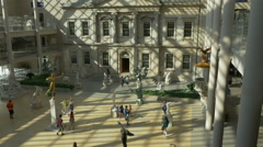 0526 Many visitors are spending there time in MET. All year long. - stock footage