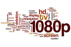 1080p word cloud - stock illustration