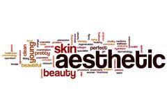 aesthetic word cloud - stock illustration