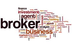 Broker word cloud Stock Illustration