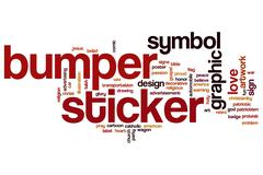 Bumper sticker word cloud Stock Illustration