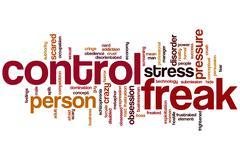 Control freak word cloud Stock Illustration