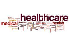 health care word cloud - stock illustration