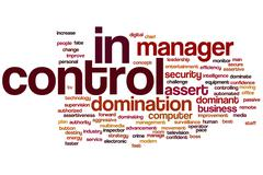 in control word cloud - stock illustration