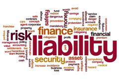 Liability word cloud Stock Illustration