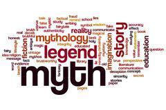 myth word cloud - stock illustration