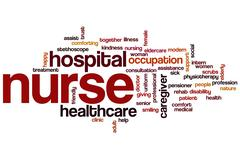 Nurse word cloud Stock Illustration