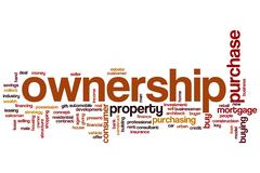 ownership word cloud - stock illustration