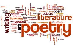 Poetry word cloud Stock Illustration
