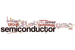 Semiconductor word cloud Stock Illustration