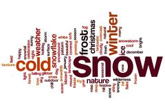 Snow word cloud Stock Illustration