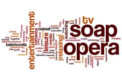 soap opera word cloud - stock illustration