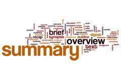 Summary word cloud Stock Illustration