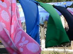 Drying of linen. This video is also in my portfolio in the HD format. Stock Footage