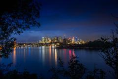 Australia, New South Wales, Sydney, Cityscape at twilight Stock Photos