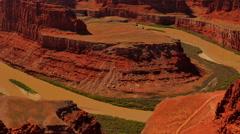 4K Dead Horse Point 07 Colorado River Utah USA Stock Footage