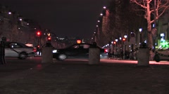 Stock Video Footage of Champs Elysees 2 Night Zoom In at 59.9fps