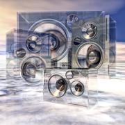 cloud of sound - stock illustration