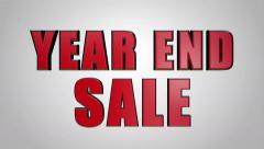 Year End Sale 3D Looping Animation - 4K UHD Ultra HD - stock footage