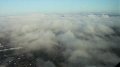 Low Clouds Over Suburban Neighborhood - Aerial Stock Footage