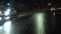 POV Driving on wet road, curve, after rain. 1080p. Stock Footage