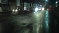 POV Driving on wet road in City of Catania after rain. Italy, Southern Europe. - stock footage