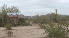 Desert  Spring Sign Blm Bureau Of Land Management Stock Footage