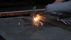 Beutiful Steel Factory Welding Process - stock footage