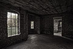 Inside squire's castle Stock Photos