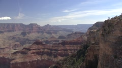 Desert Grand Canyon National Park Spring People Tourist Viewing - stock footage