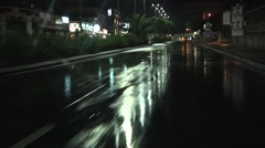 POV Driving on wet road in City of Catania after rain. Italy, Southern Europe. Stock Footage