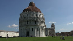 Pisa Italy Baptistry Cathedral Leaning Tower HD Stock Footage
