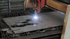 Beutiful Steel Factory Process - stock footage