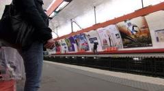 Paris Metro 1 at 59.9fps Stock Footage