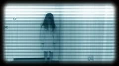 SPOOKY GIRL WITH ATMOSPHERIC SOUND - stock footage