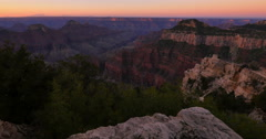 4K Grand Canyon North Rim Timelapse 01 Sunrise Arizona USA Stock Footage