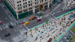 New York City Madison Square Traffic Miniature Effect Timelapse 2b - stock footage