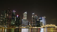SINGAPORE - 28 OCTOBER 2014: Singapore City Skyline and Financial district Stock Footage