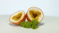 Passionfruit Stock Footage