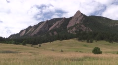 Mountain Boulder Summer Flat Iron Recreation Area Stock Footage