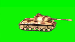 Toy-tank 3 Stock Footage