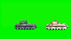 2 toy-tanks 2 Stock Footage