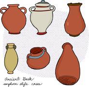 Stock Illustration of ancient greek vases