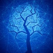 Mystic tree Stock Illustration