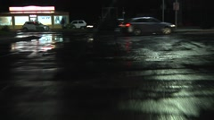 Wet road POV driving in the city in southern Europe. 1080p. N 00078 - stock footage