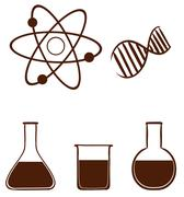A simple science experiment Stock Illustration