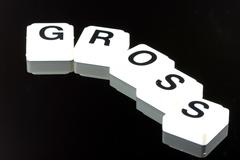 Gross  - A Term Used For Business in Finance and Stock Market Trading - stock photo