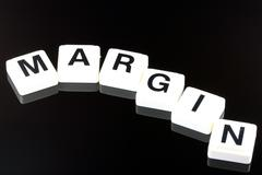 Margin  - A Term Used For Business in Finance and Stock Market Trading - stock photo
