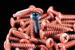 Individuality unique screw business concept Stock Photos